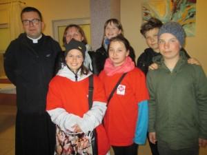 Nasza grupa z ks.Marcinem